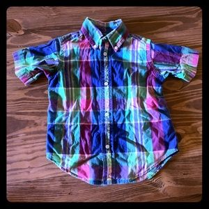 Boys Short Sleeve Button Up